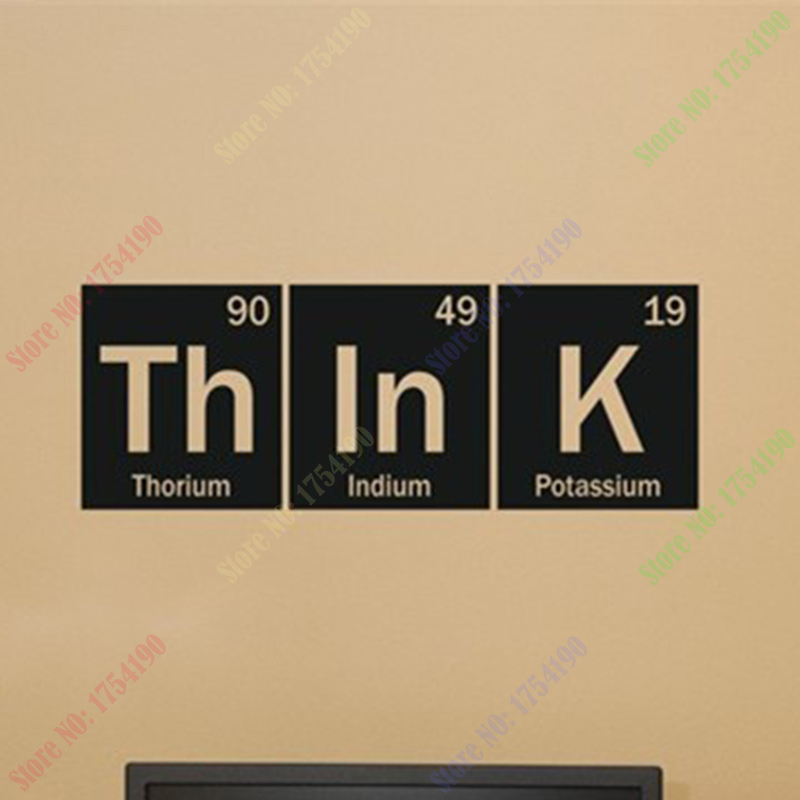 Online Think Science Periodic Table Elements Living Room Home School Office Vinyl Art Carving Wall Decal Sticker For Window Decor Aliexpress