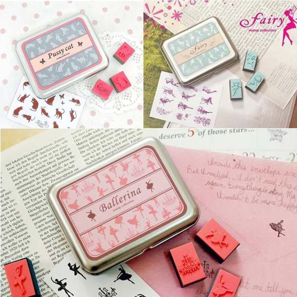New Colorful Kid Children DIY Drawing Art Rubber Stamps Animal In Tin Box Case Gift For Diary Decoration Scrapbooking From Home Garden On