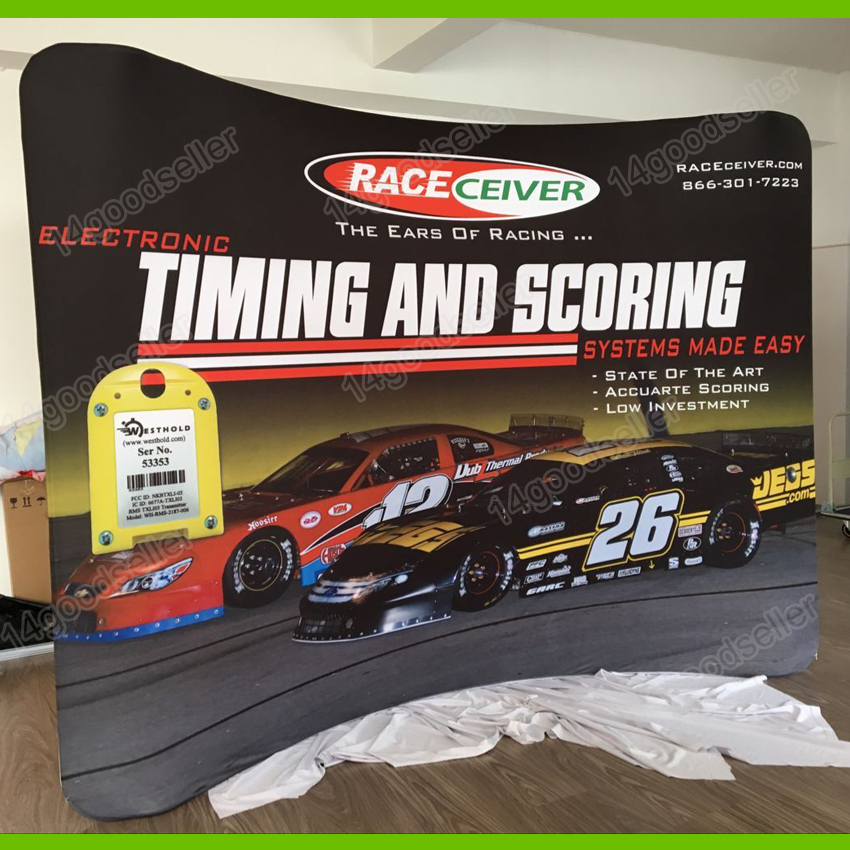 Portable Fabric Trade Show Display Pop Up Stand Banner Booth - Portable car show display stand