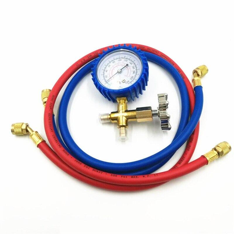 Vacuum Pump Accessories HS-466AL Air Conditioning Refrigerator Refrigerant Low Pressure Gauge Pressure Table + 2PCS Feeding Tube
