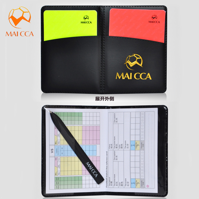 Professional Football Referee Bag with Whistle Red Yellow Cards Pick Edge Coin Barometer Soccer Wallet Set Kits for Referee Pakistan