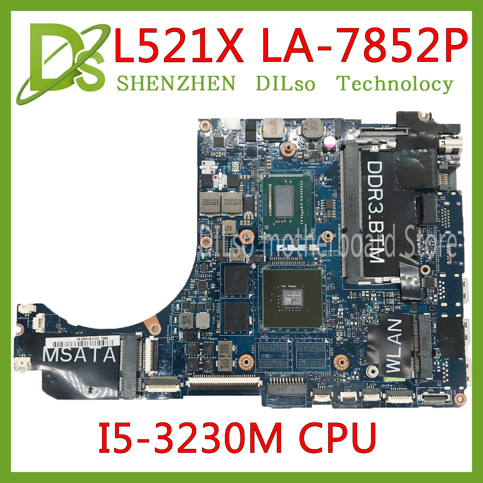 KEFU QBL00 LA-7851P motherboard FOR Dell XPS 15 L521X Laptop Motherboard <font><b>I5</b></font>-<font><b>3230M</b></font> DDR3L 4 video chips Fully Tested 100% work image