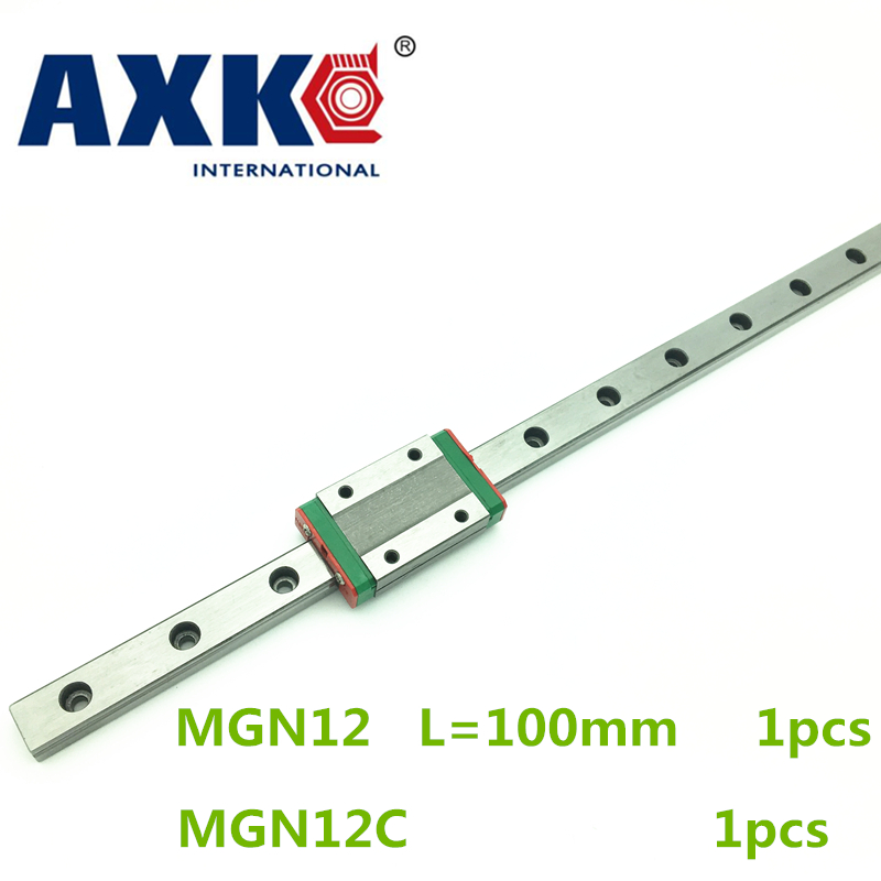 2018 Limited Cnc Router Parts Linear Rail Axk 1pc 12mm Width 100mm Mgn12 Linear Guide Rail + Mgn Mgn12c Blocks Carriage Cnc 3d print parts cnc mgn7c mgn12c mgn15c mgn9c mini linear rail guide 1pc mgn linear rail guide 1pc mgn slider