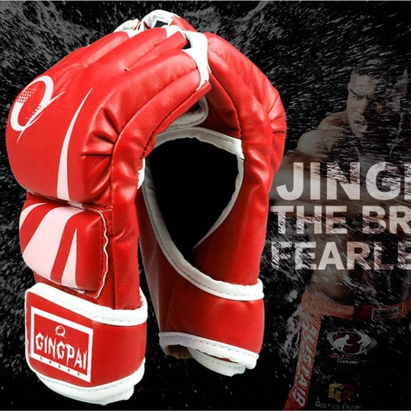 Goedkope pro-stijl MMA-handschoenen halfvingergrijperskooi vechten - Sportkleding en accessoires