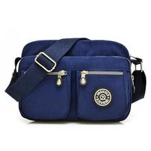 De las mujeres de alta calidad sólido impermeable bolso ocasional bolsa de mensajero de nylon bolsa de viaje de la luz bolsa de hombro para Las Muchachas + REGALO
