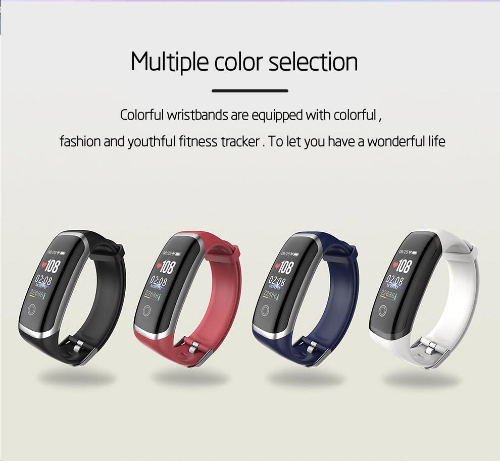 Rastreador de Fitness Monitor de Freqüência Cardíaca à Prova Tela Colorida Pulseira Inteligente Esporte Pressão Arterial Smartt Ip67 Real-time d' Água Relógio m4