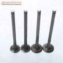 4PC motorcycle inlet and exhaust valve for YAMAHA ZUMA BWS X125 BWSX125 ZUMA125 BWSX-125 4C6-E2111-00 4C6-E2121-00