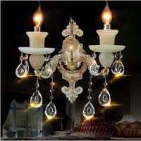 Modern luxury design jade wall lamps High quality crystal sconces living room bedroom wall lights