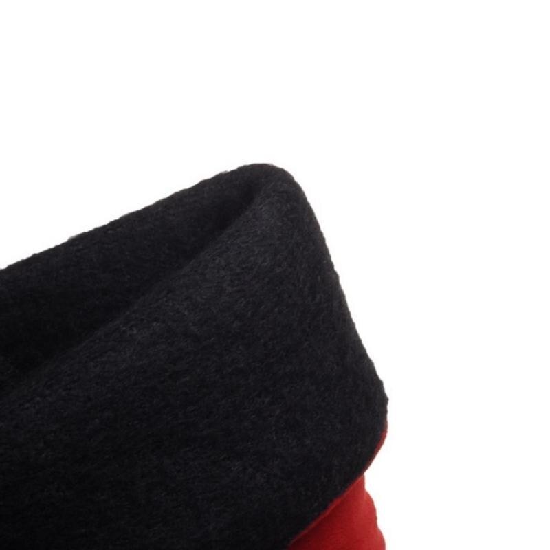 Botas Plate Étanche Mujer Taille De Femme rouge Mode Hiver Noir Fourrure 30 52 mollet gris Lebaluka Bottes 2016 Femmes forme Neige Plates Chaussures Mi wPOFS