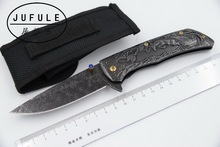 JUFULE Original design Bucks 9Cr18moV steel folding kitchen camping hunt pocket Survival EDC tool Tactical outdoor flipper knife