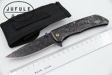 JUFULE Original design Bucks 9Cr18moV steel folding kitchen camping hunt pocket Survival EDC tool Tactical outdoor flipper knife