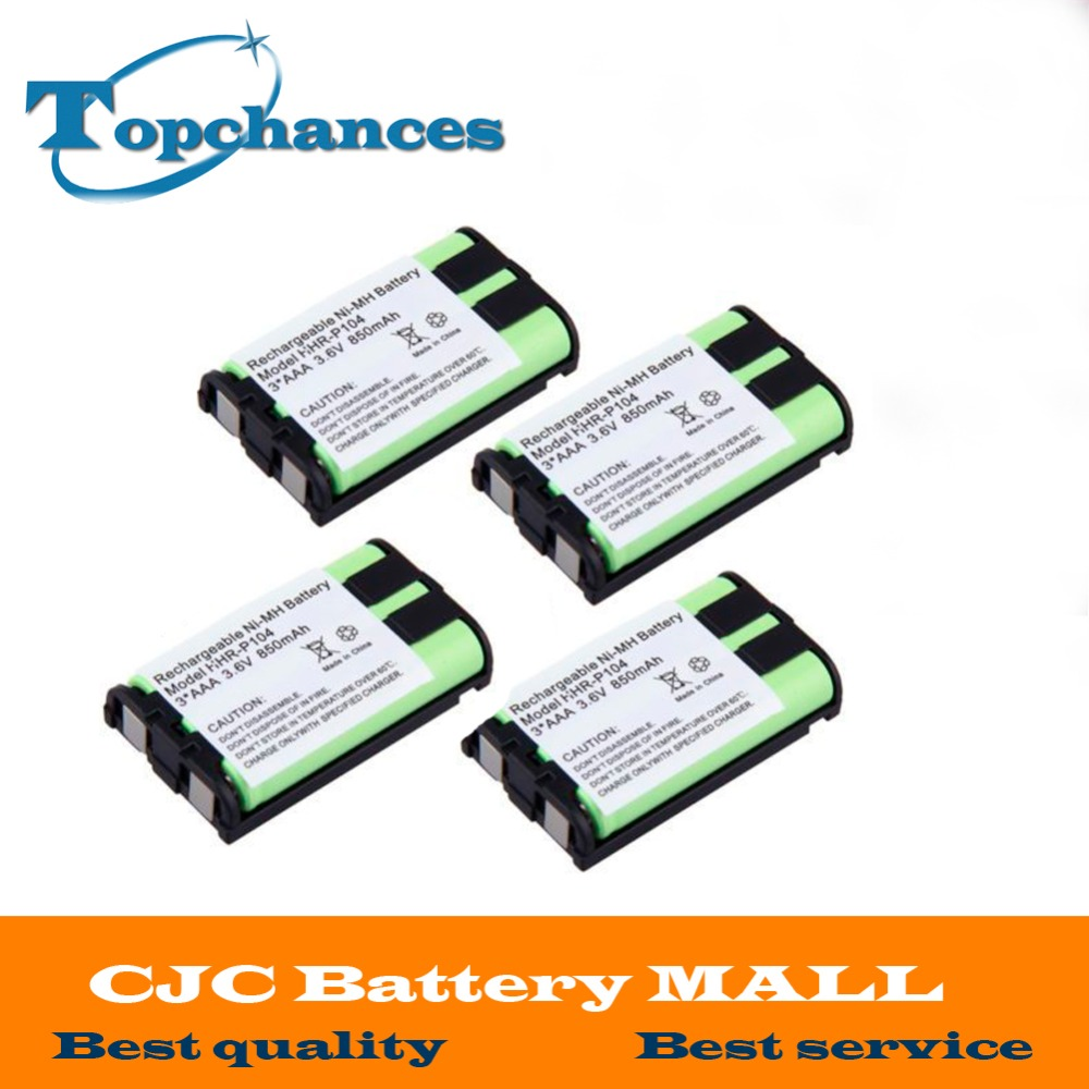 Power Source Replacement Batteries Hot Sale 4pcs Free Shipping Ni-mh 850mah 3.6v 3*aaa Hhr-p104 Hhr-p104a/1b Rechargeable Cordless Home Phone Battery For Panasonic
