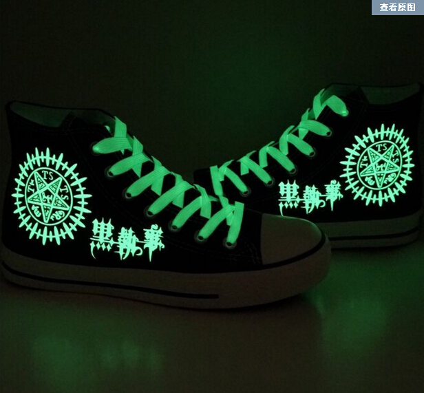 anime black butler canvas shoes Women Men luminous Sneakers shoes casual shoes sports shoes cosplay