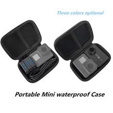 Caja de almacenamiento protectora de PU portátil, bolsa impermeable para Gopro Hero 8 7 6 5 SJCAM Yi 4K DJI Osmo, juego de accesorios para Cámara de Acción