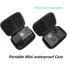 Draagbare PU Beschermhoes Opbergdoos Waterdichte Tas voor Gopro Hero 8 7 6 5 SJCAM Yi 4K DJI osmo Actie Camera Accessoires Set