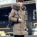2016 Winter new men's warmth down jacket warm clothing students warm tide jacket men in the long section of black cotton khaki