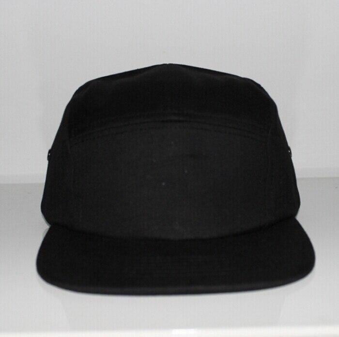 Prix pour Livraison gratuite solide couleur hip hop rue Coton toile 5 panneaux chapeaux d'été pour les hommes en gros