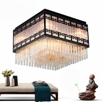 Chinese style crystal retro ceiling lamps rectangle ceiling lamp living room bedroom model room lamp ZA628 ZL108 YM