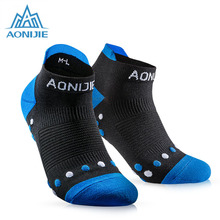 1 Pair AONIJIE Athletic Ankle Socks Men Women's Outdoor Hiking Sport Running Cushioned Crew Massage Socks candino sport athletic chic c4522 1