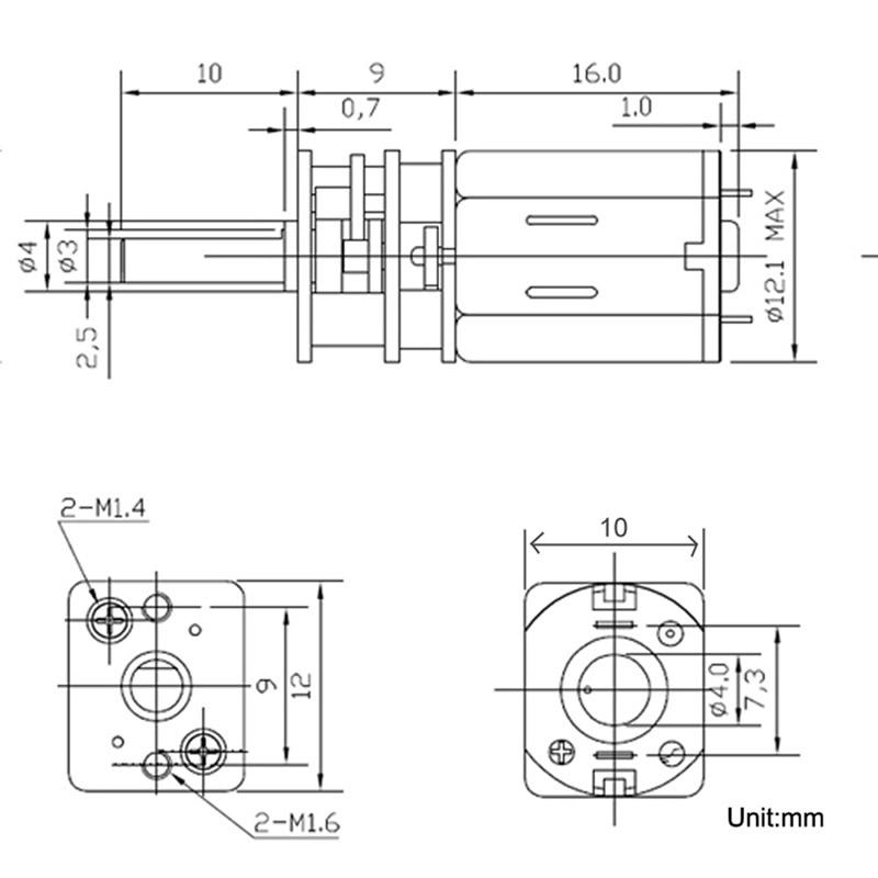 Bringsmart 3V 6V 12V 15 1500RPM N20 DC Gear Motor Reversed Control Low Noise for DIY Electronic Equipment Toys Mini Machine in DC Motor from Home Improvement
