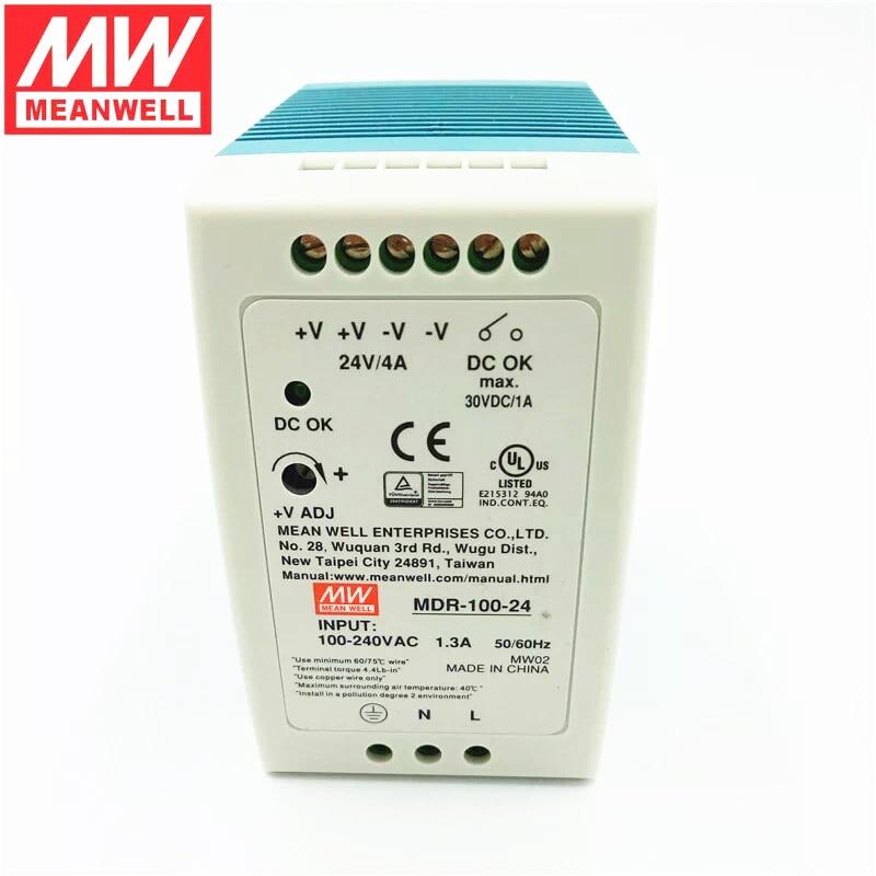 MDR 100 Din Rail Power Supply 100W 24V 4.2A,Switching Power Supply AC 110v/220v Transformer To DC 24v,ac dc converter