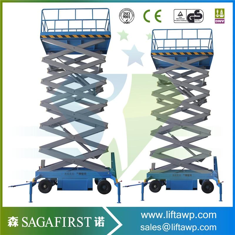 SINOFIRST Hydraulic Mobile Scissor Lift Table 500kg