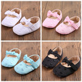 New stylish cotton heart baby moccasins baby girls mary jane princess dress shoe with bow-tie first walkers 4 colors 3 sizes