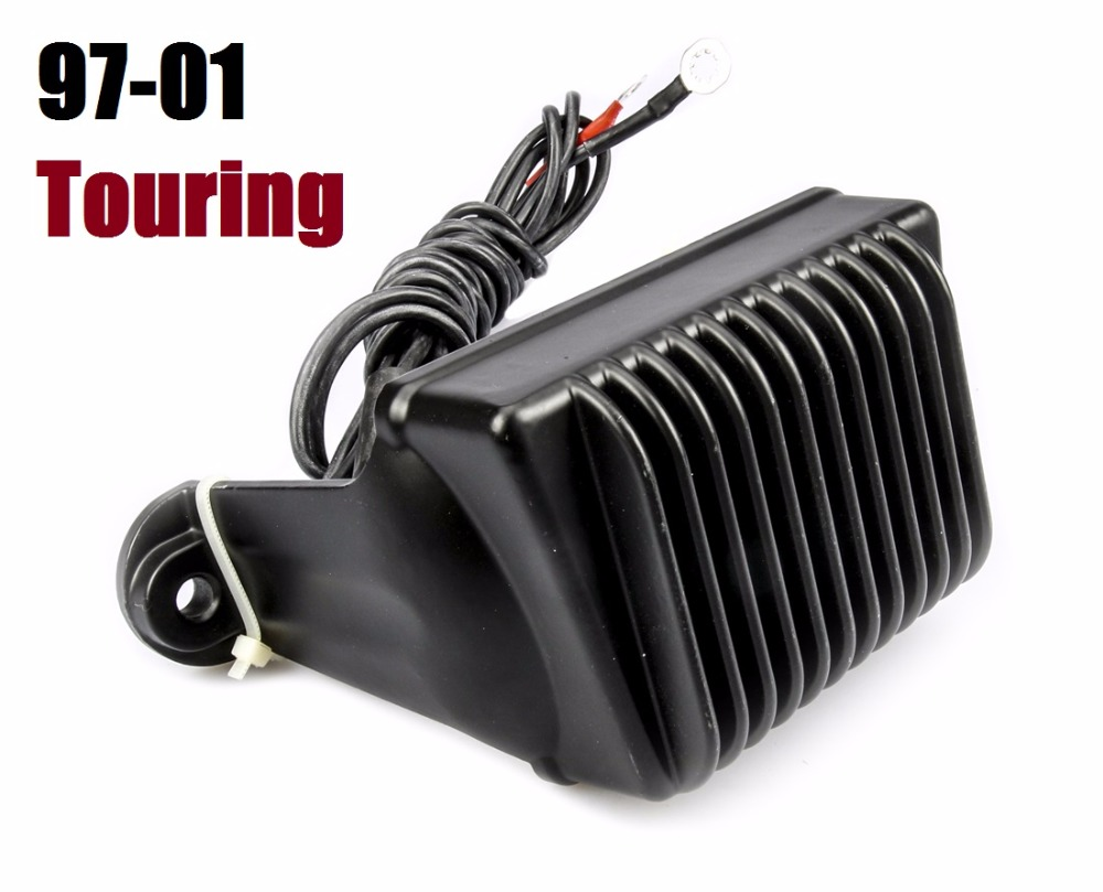 Motorcycle Black Voltage Rectifier Regulator for Harley Touring 97-01 Replace 7450597 voltage regulator rectifier for polaris rzr xp 900 le efi 4013904 atv utv motorcycle styling