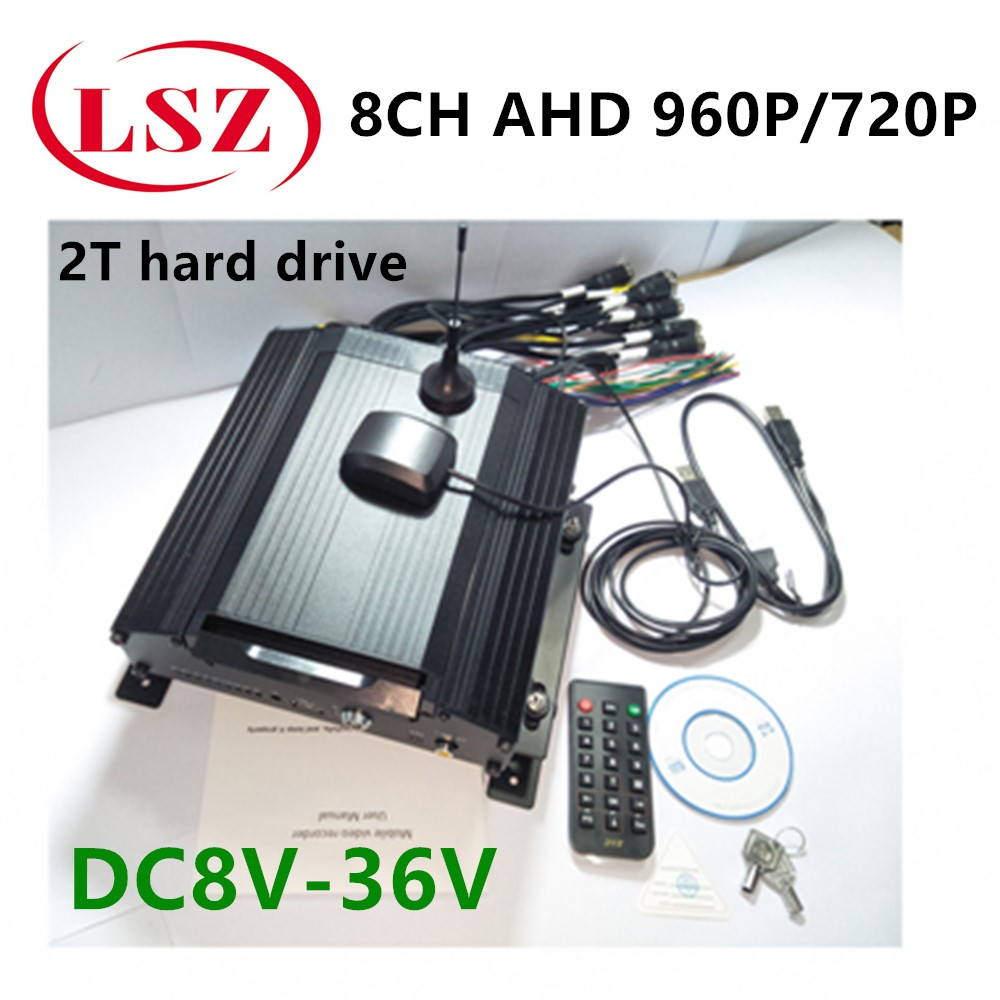 Factory direct taxi mobile DVR remote surveillance positioning video recorder 4G GPS mdvr host 8 channel hard disk