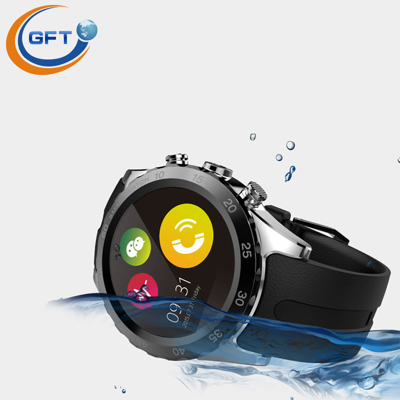 GFT KW08 Bluetooth smart wtach phone business watch gsm waterproof with camera bluetooth font b smartwatch