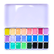 Solid Watercolor Painted Pigment 24 Color Candy water color Student Professional Painting Set Art Supplies
