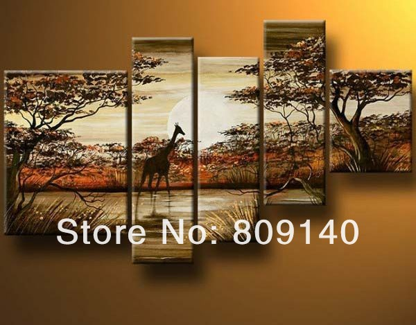 South African Landscape Oil Painting Canvas Dark Color
