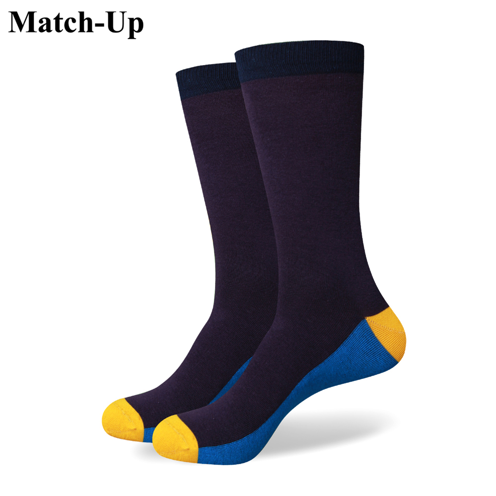 Match-Up Free shipping Purple and  Blue new men colorful combed cotton socks 250