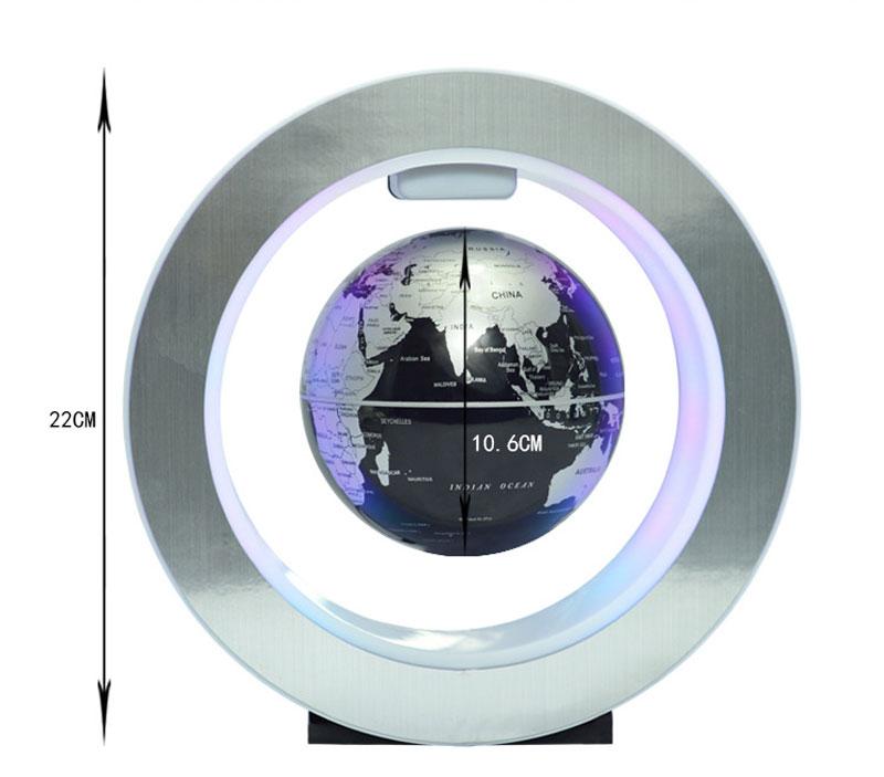 Magnetic Levitation Novelty Round LED World Map Globe Lamp Luminous Rotation Display Antigravity MagicDec Plasma Ball Light (7)