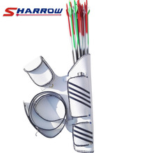 1 Piece White Strap Archery Quiver  Leather Adjustable Belt Hanging Arrow Accessories