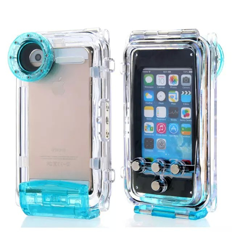 imágenes para 40 M Buceo Impermeable para el iphone 5 5S iPhone Teléfono Cubierta de La Bolsa De Plástico Impermeable para la Natación de silicona de Alta Calidad deportes