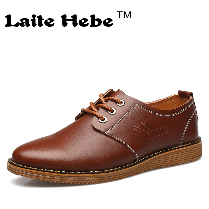 Laite Hebe Men 's Leather business Shoes 2016 New Add Cotton Casual Shoes Genuine Winter Keep Warm Work Shoe Lace-Up Men's Shoes blue and white canvas anti static shoes esd clean shoes pharmaceutical shoes work shoes add cotton
