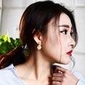 Love Deluxe Серьги-Сладкий дамы Небольшие серьги увлечены жемчуг 14 мм белый Имитация перл стад серьги