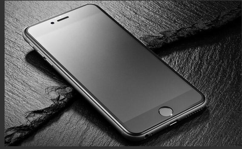 9H 2.5D matowy matowy pełna pokrywa szkło hartowane Screen Protector dla iPhone X XS MAX XR 10 8 7 6s 6 Plus 7Plus anty odciski palców 8