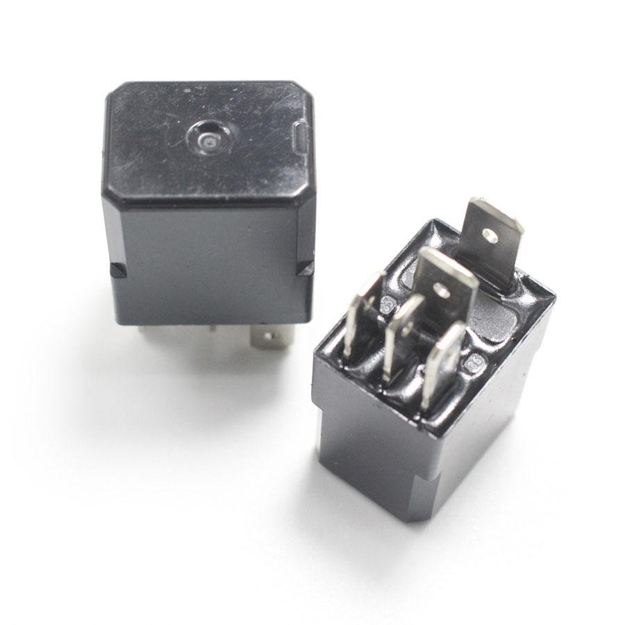 5 Pcs 12V 30A 5Pin Violet Automotive Relay Fog Lamp Oil Pump - Automotive Relay Normally Open