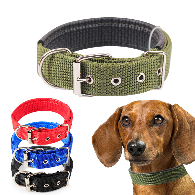 YVYOO Pet Dog Collar Fashion Adjustable Nylon Dogs Collars Comfortable Soft material 4 Colors 4 Sizes S/M/L/XL A13