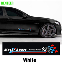 2pcs kk M performance Motor sport bemblem car body sticker Car door sticker For bmw F10 F20 F30 1 3 5 GT series X1 X3 X4 X5 X6