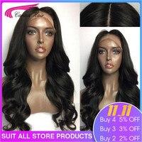 Карина волосы бразильские тела волна шелковая основа парики с волосами младенца 130% полный шнурок Remy натуральные волосы парики с предварите