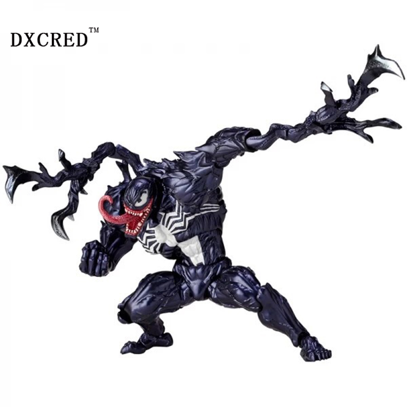 все цены на Venom Play Arts Kai Action Figure Spiderman Venom Collectible Model Toy PVC Anime онлайн