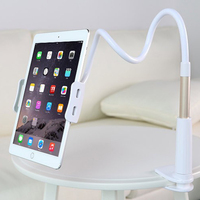 Universal Convenient Mobile Phone Clip Holder GPS Desk Bed Stand Bracket Flexible 360 Rotating Mount For