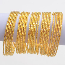 Anniyo 6pcs/Lot Bracelets Women Girls Dubai Circle Bracelet Jewelry Arab Middle Eastern African Fashion Metal Bangles #014707(China)