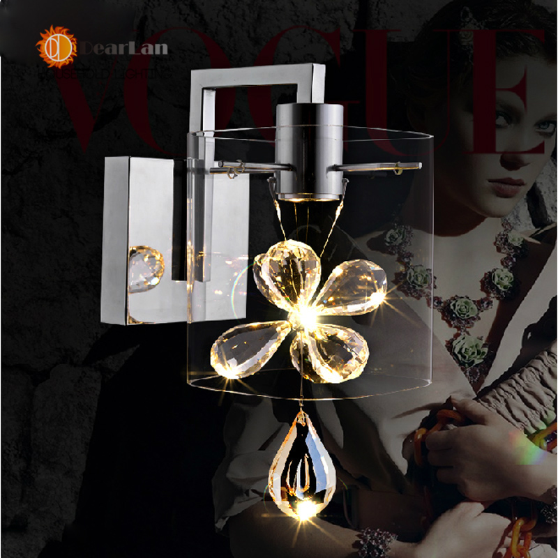 Wall Mounted Lamps For Living Room : Aliexpress.com : Buy Modern Crystal Glass Wall Lamps LED Bedside Lamp Wall Mounted Lights For ...
