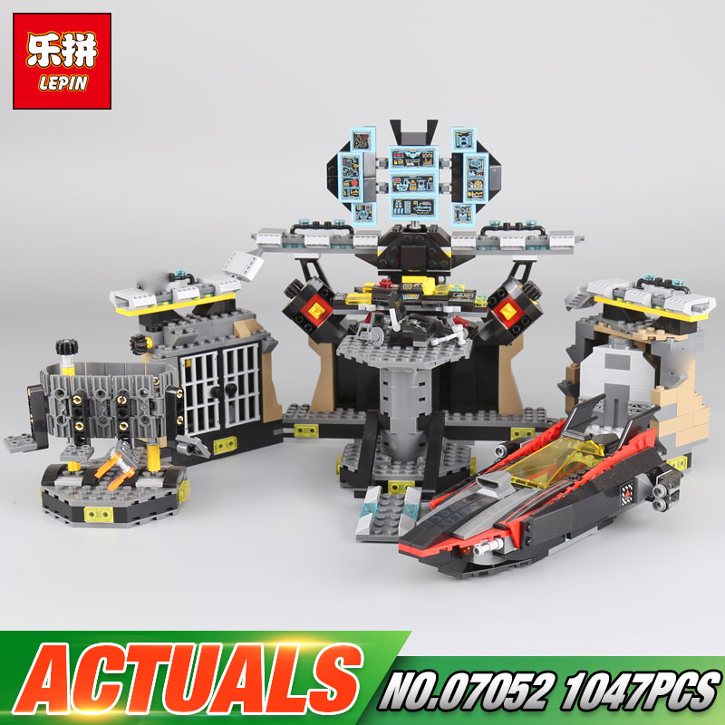 Lepin 07052 1047pcs Genuine Movie Series The Batcave Break-in Set Building Blocks Bricks Educational Toys As Boy`s Birthdat Gift black pearl building blocks kaizi ky87010 pirates of the caribbean ship self locking bricks assembling toys 1184pcs set gift