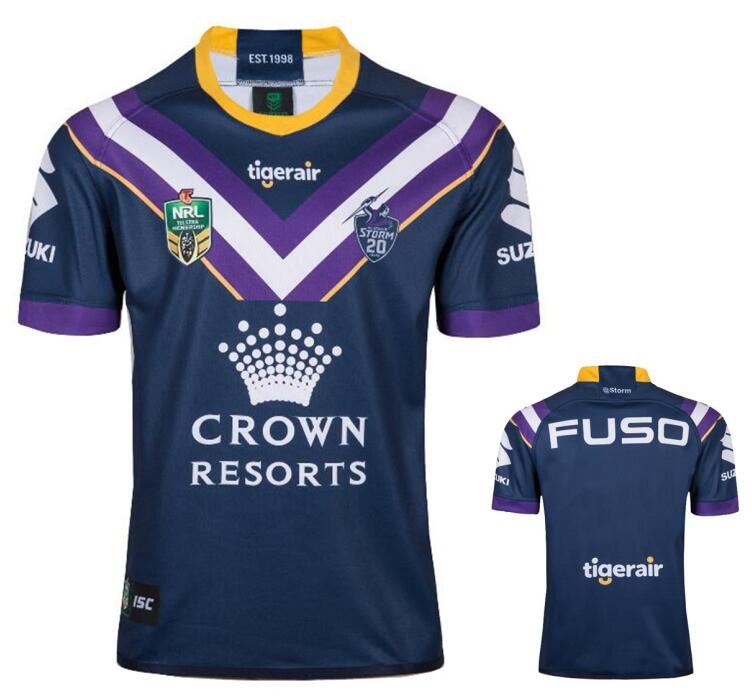 2019 NRL Melbourne Storms home purple rugby jerseys size S-3XL a4bbbed17