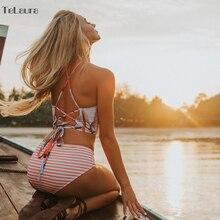 CV Sexy High Neck Bikini Women Swimwear Push Up